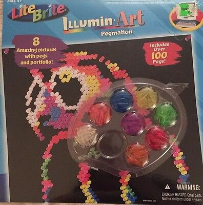 New Lite Brite Illumin Art Pegmation Picture Refill with 100 pegs Christmas Gift