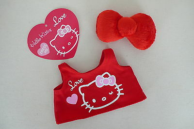 SANRIO Hello Kitty Dress Me Clothes - 'Love' Tank Top & Iconic Plush Red Bow