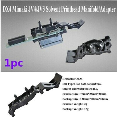HOT! OEM DX4 Solvent Printhead Manifold / Adapter for Roland/ Mimaki/Mutoh