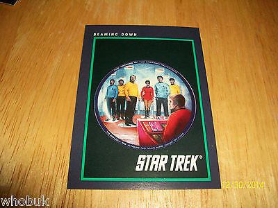 Star Trek - 1991 - 25th Anniversary Trading Card - Beaming Down - #153