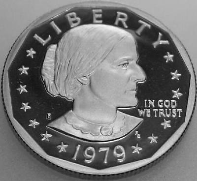 Dollar First Female Susan B Anthony Proof 1979-S Variety 1 (Type 1) SBA