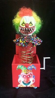 Zombie Baby Doll Killer Clown Jack in the Box Halloween Haunted House  Prop