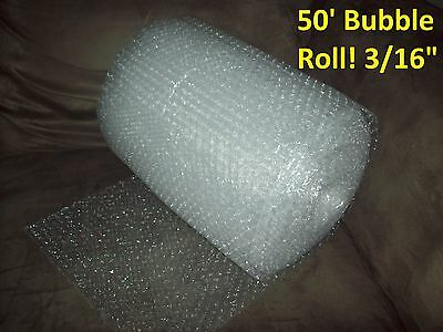 "50' Bubble Wrap/Roll 3/16"" SMALL Bubbles! 12 In. Wide! Perforated Every Foot!"