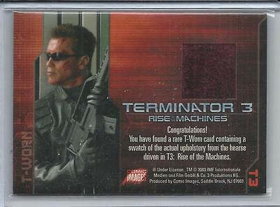 TERMINATOR 3 RISE OF THE MACHINES HEARSE UPHOLSTERY T-WORN COSTUME