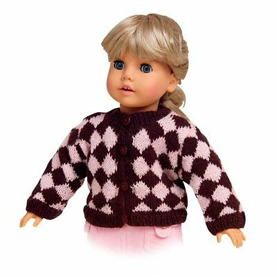 Pink & Brown Diamond Sweater Doll Clothes Made for 18 Inch American Girl