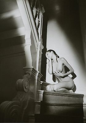 Jeanloup Sieff Original Offset Photo Lithograph XXL Nude on the stairs 1987 Akt