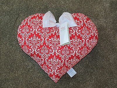 NWT 2013 Woof & Poof Red & White Valentine's Day Pillow #V4036