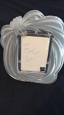 Mikasa Frosted Crystal Glass Picture Frame for 4x6 photo LOVE KNOT