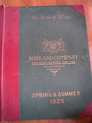 1925 Rose and Company -Huge! Salesman Sample Book Vintage Clothing Catalog