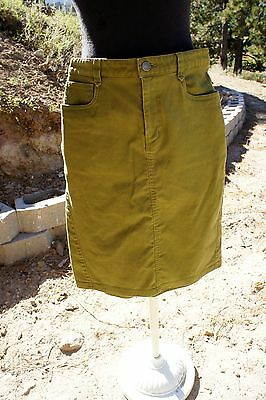 PATAGONIA Skirt 4 Organic Cotton Twill Casual Style Green A Line Knee Length EUC