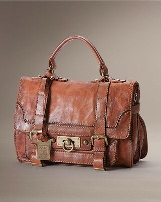 FRYE Cameron Small Satchel Cognac Vintage Distressed Antique Handbag NEW