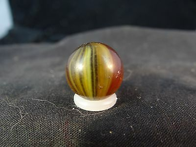 vintage machine made marble.akro agate sparkler in colored glass!has roughness