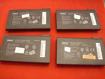 Lot of 4 Dell Battery for Latitude CP CPI CPX CPT C-Series  45-60 min of charge