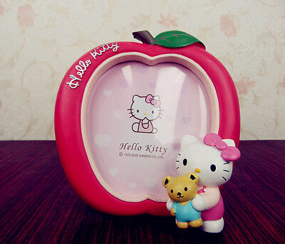 Cute APPLE Shape Design RED Color KITTY Design RESIN PHOTO FRAME Nice Decoration