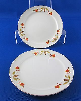 Two Vintage Hall Jewel Tea Bread and Butter Plates