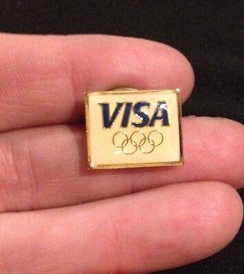 1992 Albertville - Barcelona Olympic - VISA OLYMPIC RINGS  -- Collector Pin