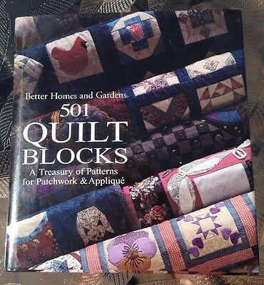 Better Homes and Gardens 501 Quilt Blocks A Treasury of Patchwork Appliqué Book