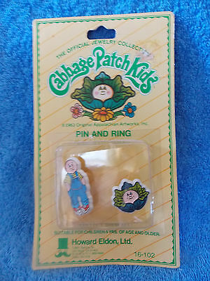 Cabbage Patch Kids * Pin And Ring * The Official Jewelry Collection * New