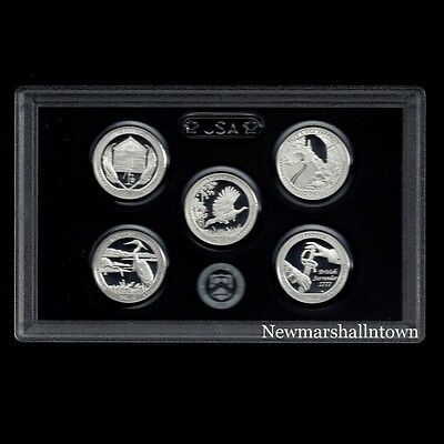 2015 S America the Beautiful National Parks ~ Mint Silver Proof Set in Lens Case