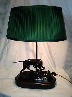 Vintage Frederick Cooper Hunting Dog Pointer Table Lamp By Mario Buatta Rare