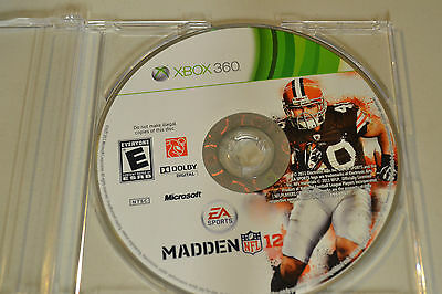 Madden NFL 12  (Xbox 360, 2011)Disc Only