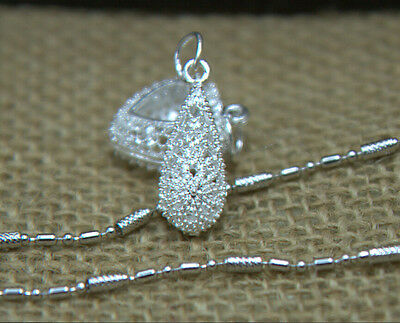Elegant Necklace Pendants  S80 Silver   The water type Fancy Attractive E9