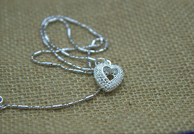 Elegant Necklace Pendants Hollow out S80 Silver lovey Fancy  Attractive   E7