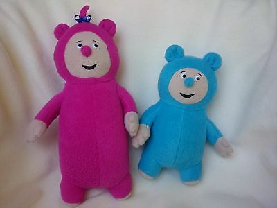 """Plush toy just like Billy and Bam Bam from BabyTV, 14"""" - with name (PAIR)"""