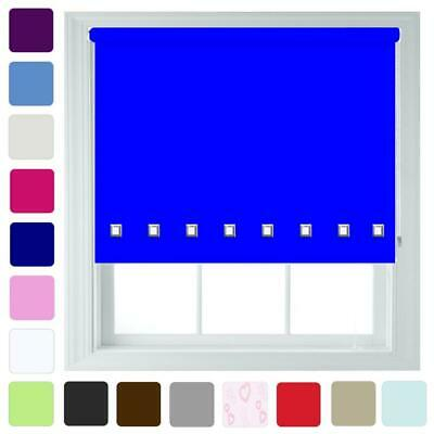 Blackout Roller Blinds with Square Eyelet - FREE Cut To Size - Quality Thermal