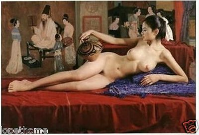 Handcrafted Portrait Oil Painting on Canvas,Classical Nude 24x36inch(no framed)