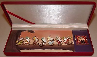 DISNEY SNOW WHITE AND THE SEVEN DWARFS PIN SET BOXED DIAMOND COLLECTION LIMITED