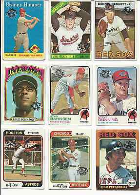 (18) Card Lot of 2015 Topps Originals Buyback Cards Foil Stamped Cards 1958-1979