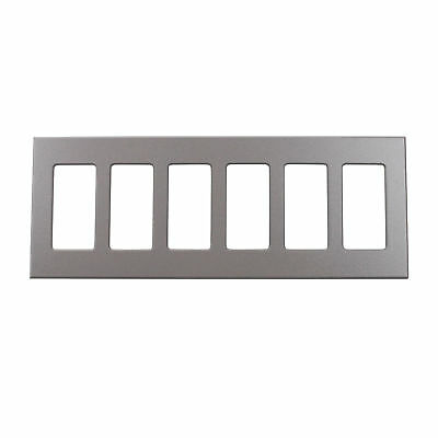 Lightolier Comfp6Gr Compli Faceplate Wall Plate, 6-Gang, Gray