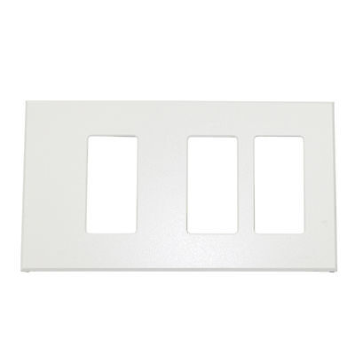 Lightolier Controls Fb3Sslw Multi-Gang, 3-Gang, Faceplate Wall Plate, White