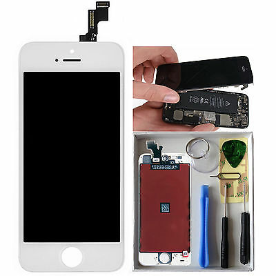 LCD Display Touch Screen Digitizer Replacement For iPhone 5S White + Tools
