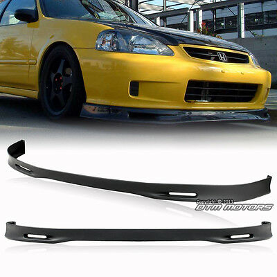 Polyurethane PU JDM Spoon Style Front Bumper Lip Wing For 1999-2000 Honda Civic