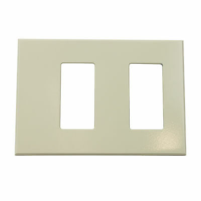 Lightolier Controls Fb2Slal Multi 2-Gang Faceplate Wall Plate, Almond