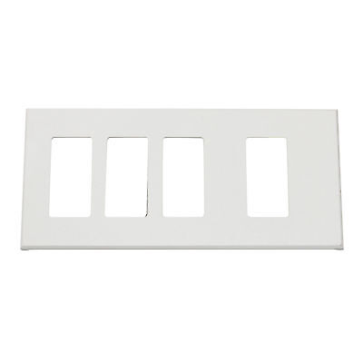 Lightolier Controls Fb4Ssslw Multi-Gang, 4-Gang, Faceplate Wall Plate, White