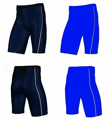 6cc7379193 Mens Navy / Blue Compression Shorts Gym Running Sport Bike Training White  Skins