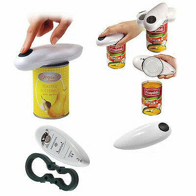 New Kitchen Gadgets One Touch Automatic Electric Tin Can Opener/Jar Grip Tool IF