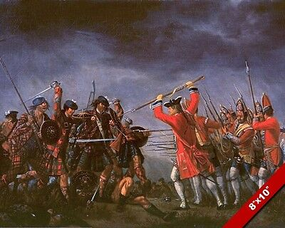 Battle Of Culloden Painting British Scottish Jacobite War Art Real Canvas Print