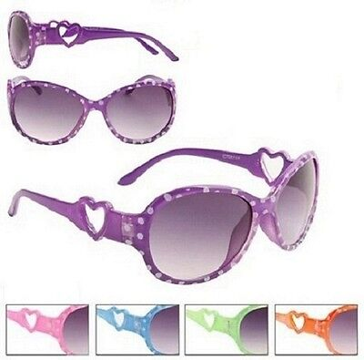 Dotty Heart Sunglasses Shades Kids Childrens Girls 100% UV400 Protection 60