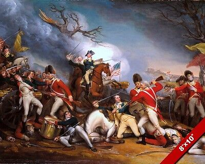 Battle Of Princeton Painting American Revolutionary War Art Canvas Print