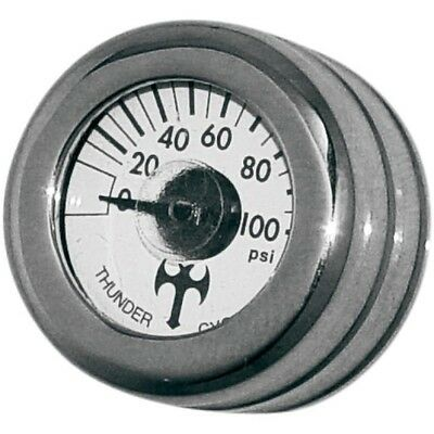 Mini Oil Pressure Gauge and Cover Thunder Cycle Designs Polished TC-001