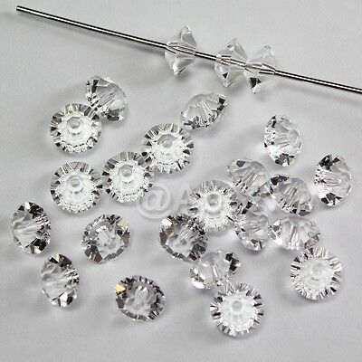 Squished Diamond shape 5305 Cry Silver Shade 36 Czech MC Spacer Beads 3x5mm