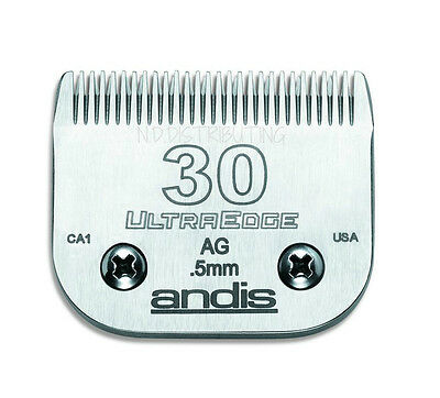 """Andis #30 UltraEdge Clipper Replacement Blade 1/50"""" 0.5 mm #64075 # 30 BRAND NEW"""