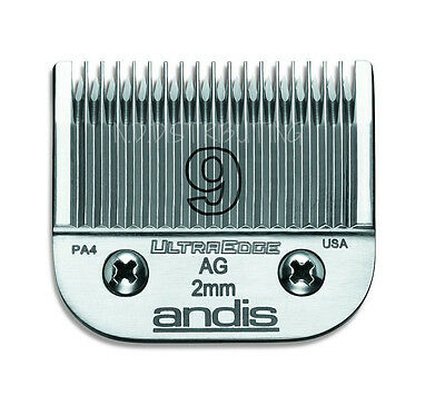 """Andis #9 UltraEdge Clipper Replacement Blade 5/64"""" or 2.0mm #64120 # 9 BRAND NEW"""