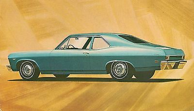 1968 Chevrolet Chevy II Nova Coupe Advertising Postcard