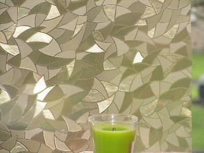 3D Gold Decorative Window Static Film Glass Frosted Paper Vinyl Covering Fablon