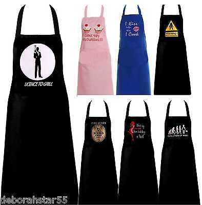 Novelty Apron Funny Adult Kitchen Chef BBQ Cooking Printed Cotton Aprons Pinny